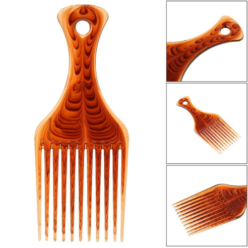 Fashion Pro Hair Fork Comb For Curly Hair Or Afro Hairstyle Hairdressing Styling Tool Coffee