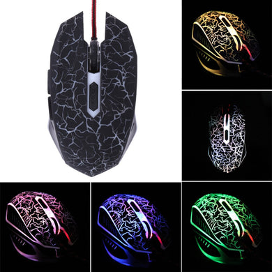 Gaming Mouse Adjustable Colorful Backlight 4000DPI Optical Wired Gaming Game Mice Mouse for Laptop PC For Lol Dota