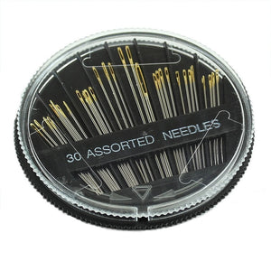 Hot 30PCS Assorted Hand Sewing Needles Embroidery Mending Craft Quilt Sew Case