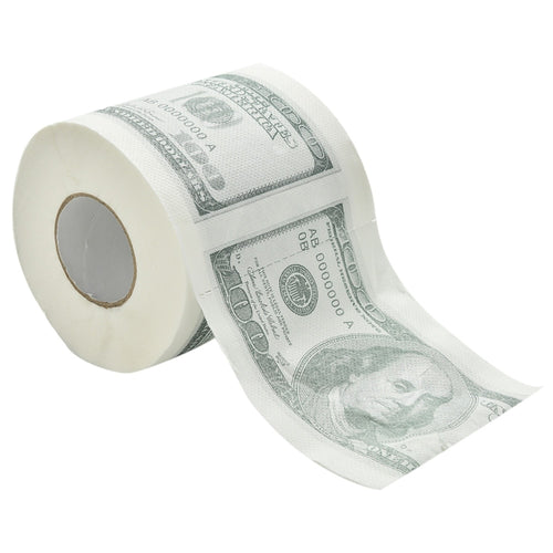 One Hundred Dollar Bill Printed Toilet Paper America US Dollars Tissue Novelty Funny $100 TP Money Roll Gag Gift