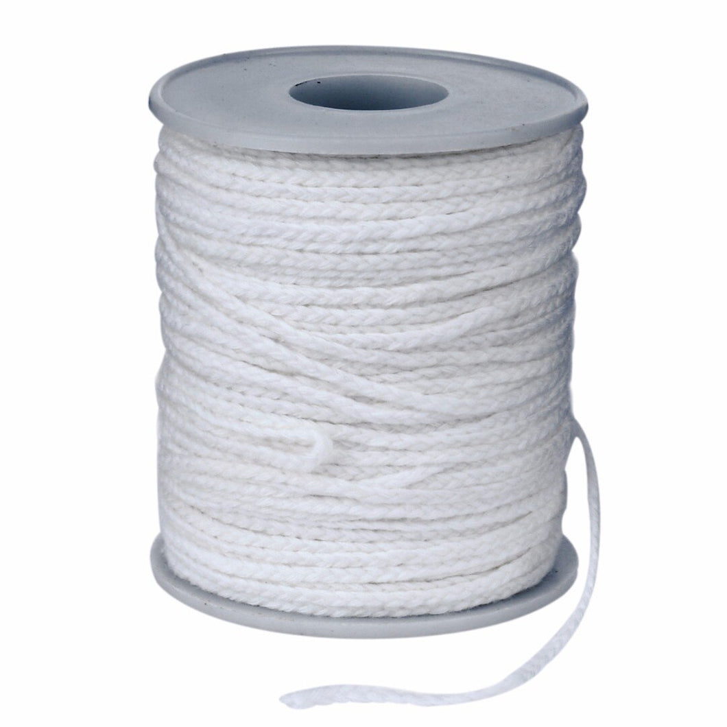 Spool of Cotton Square Braid Candle Wicks Wick Core 61m x 2.5mm For Candle Making Supplies