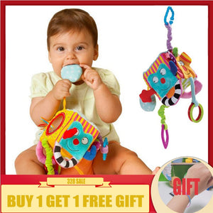 baby rattles crib mobiles toys Plush Square Block Cloth Cube Rattles Early Newborn Baby Educational Toys 0-12 Months