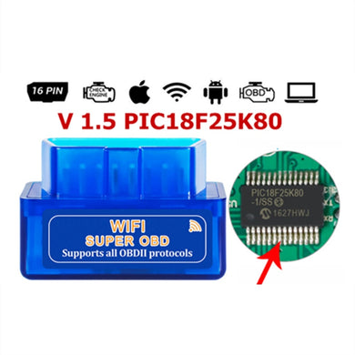 OBD ELM327 WIFI V1.5 OBD2 Car Elm 327 PIC18F25K80 eml327 Obd 2 Auto Scanner Automotive Code Reader Diagnostic Tool Android IOS