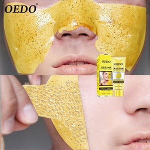 OEDO Gold to black mask remove black spots stains face pores clean exfoliating acne gold mask pores shrinkage acne treatment