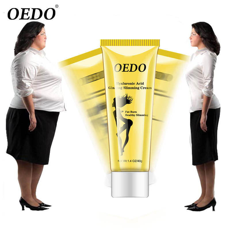 OEDO Hyaluronic Acid Ginseng Slimming Cream Reduce Cellulite Lose Weight Burning Fat Slimming Cream Health Care