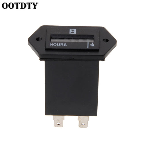OOTDTY Generator Sealed Hour Meter Counter Tractor Truck Hourmeter Rectangle DC 10V-80V for Boats Trucks Tractors Cars
