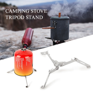 Outdoor Gas Tank Stand Foldable Cartridge Canister Tripod Camping Hiking Cooking Tank Stove Stabilizer Outdoor Stove Accessory