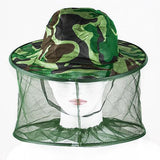 Outdoor Professional Mosquito Bug Insect Bee Resistance Net Mesh Head Face Protector Hat Cap