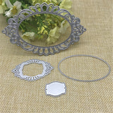 Oval lace Metal Cutting Dies Stencils for DIY Scrapbooking/photo album Decorative Embossing DIY Paper Cards