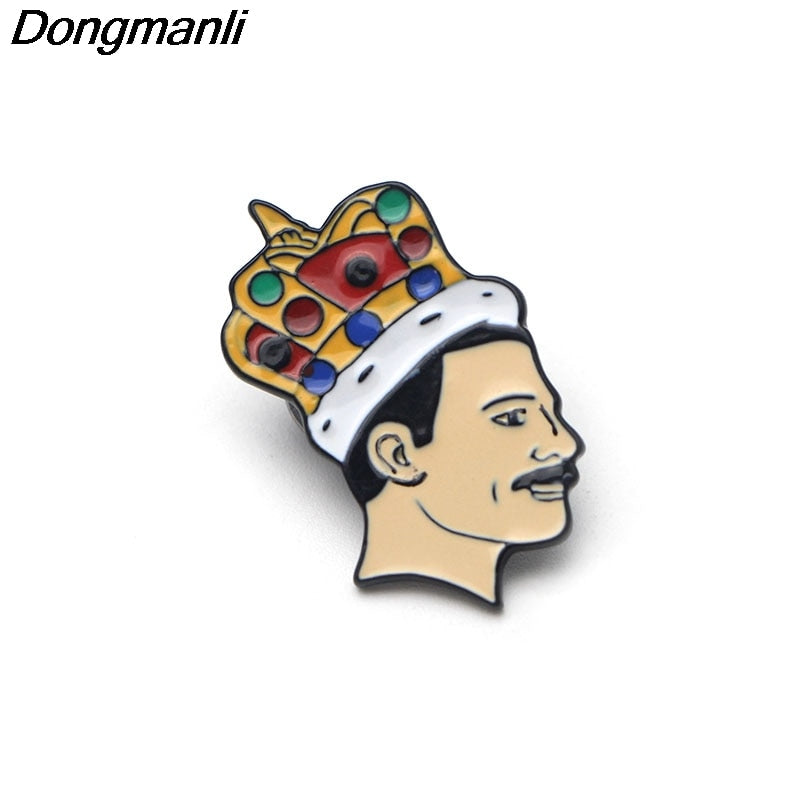 P2269 Dongmanli Singer band Music Art Freddie Mercury Pin Soft Enamel Brooch Pin badge Jewelry fans Gift Collection