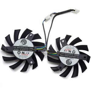 PLA07010S12HH 12V 0.5A 65mm 4Pin Replacement Cooling Fan For MSI R5770 Hawk - graphics card - Radeon HD 5770