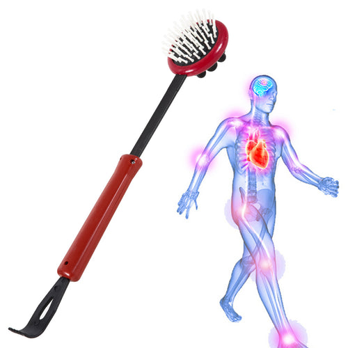 Massage Back Scratcher Massage  Dual Use Telescopic Extendable Back Scratcher Massager Full Body Relax Extendable Back Foot Care