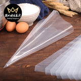 Plastic 10pcs Pastry Bag White Disposable Piping Bag Icing Piping Cake Cupcake Decorating Tools