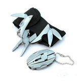Pocket Multitools Plier 1pc Outdoor Mini Portable Folding Muilti-functional Plier Clamp Keychain Car Repair Tool #30