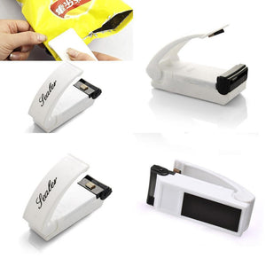 Portable Mini Heat Sealing Machine Food Bag Package Sealer Capper Sealing Tool Bag Clips Household Multifunction Kitchen Tool