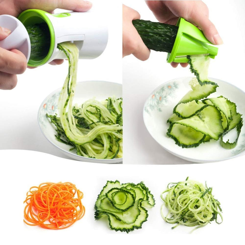 Portable Spiralizer Vegetable Slicer Handheld Spiralizer Peeler Stainless Steel Spiral Slicer for Potatoes Zucchini Spaghetti