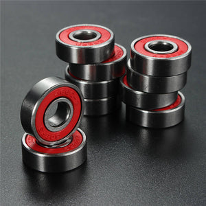 Professional 10 PCS  ABEC 7 608RS Skate Scooter Skateboard Wheels Spare Bearings Ball Roller Highest Precision Shafts