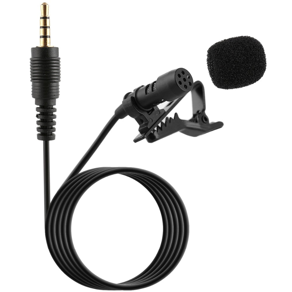 Professional For Phone Portable Mini Stereo HiFi Sound Quality Condenser Microphone Clip Lapel Mic