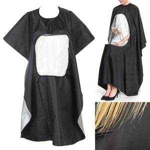 Professional Hairdressing Gown Apron Children Adults Hair Cutting Cape Barber Gown Styling Tools With Phone Viewing Window
