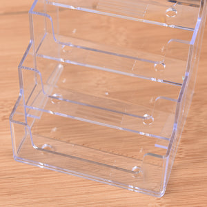 Promotion Four Pockets Clear Desktop Office Counter Acrylic Business Card Holder Stand Display Fit For Office School Best