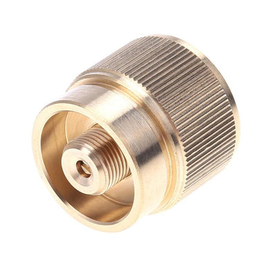 Pure Copper Camping Adapter Propane Small Tank Input Lindal Valve Output Connector Outdoor Camping Propane Tank Input Adapter