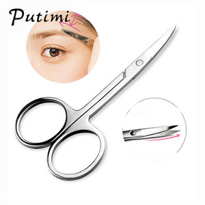 Putimi Machine Cut Eyebrow Trimmer Scissors Eyebrow Shaver Knife Hair Removal Beauty Eye Brow Makeup Tools Professional Make Up