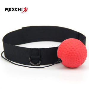 REXCHI Kick Boxing Reflex Ball Head Band Fighting Speed Training Punch Ball Muay Tai MMA Exercise Equipment Sports Accessories