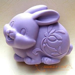Rabbit Silicone Soap mold DIY Carft 3d soap molds S058