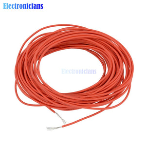 Red 10M UL-1007 24AWG Hook-up Wire 80C / 300V Cord DIY Electrical