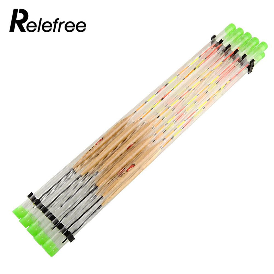 Relefree 10Pcs/Lots Fish Float Wood Fishing Float Tackle Tools For Fishing Tank Flotteur Peche Float Fishing Tackle Tools