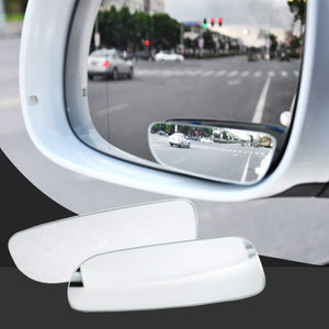 SUGERYY 360 Degree Adjustable Glass Frameless Car Rearview Rear View Mirror Reversing Wide Angle Auxiliary Blind Spot Mirror