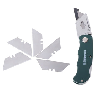 School Supplies Stainless Steel Folding Utility Knife Woodworking Outdoor Camping with Five Blades