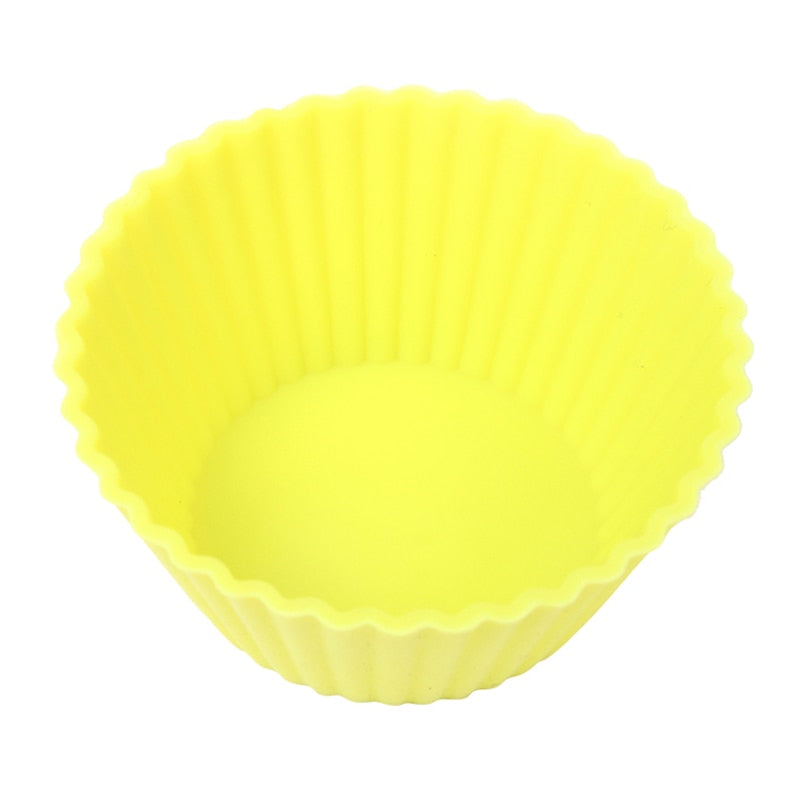 Set of 12 Pieces(1 Dozen) 3cm Mini Muffin Cup Round Silicone Cake Baking Molds Cupcake Pan