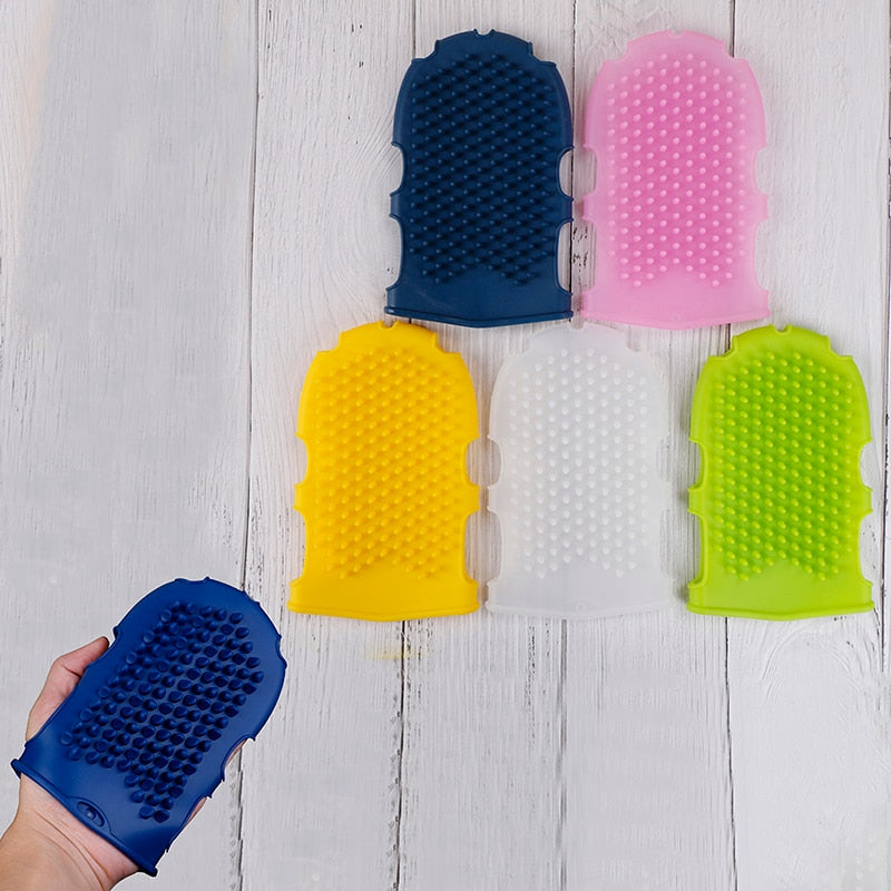 Silicone Multifunctional Smooth Slimming Cellulite Brush Bathing Massage Glove Massager Relaxation Anti Fat Body