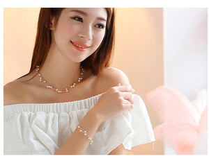 Simple Sweet Simulated Pearl Bracelets For Women Fashion Double Layer Jewelry Bijoux Cute Bracelets & Bangles