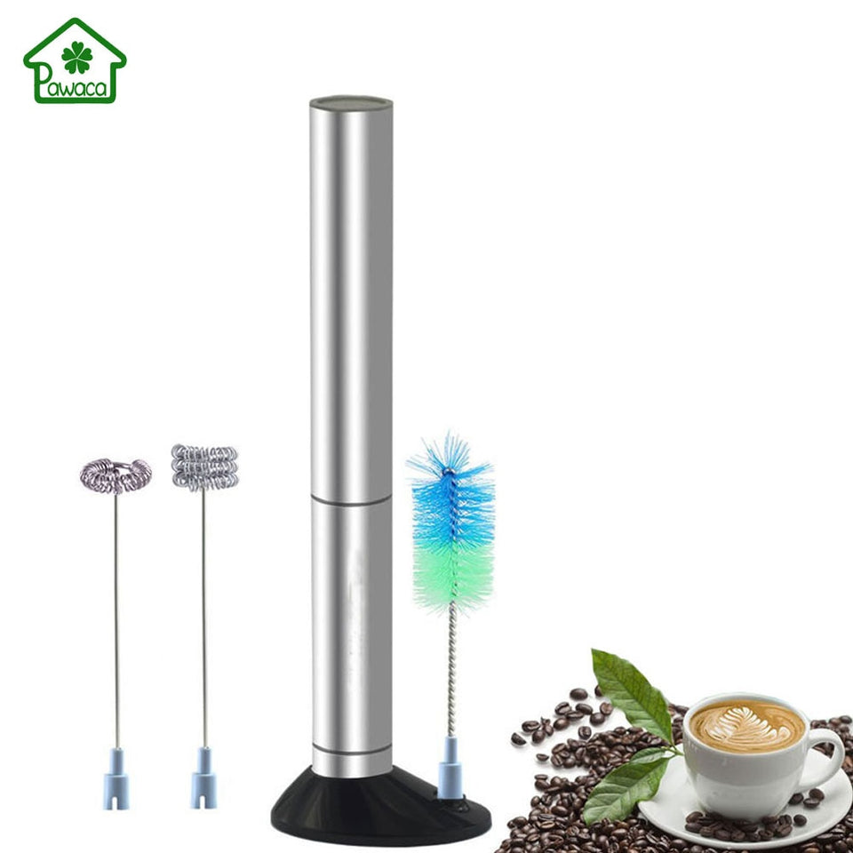 Stainless Steel Electric Handheld Milk Frother Foamer Whisk Mixer Egg Beater Coffee Maker Blender Auto Stirrer Kitchen Stir Tool