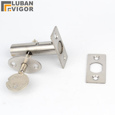Stainless steel pipe well lock,Concealed door, lock Pipe/Fire door/ Escape/Aisle/Invisible lock,door hardware