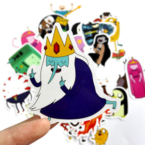 TD ZW 25Pcs/Lot American Drama Adventure Time Funny Sticker Decal For Car Laptop Bicycle Motorcycle Notebook Waterproof Stickers