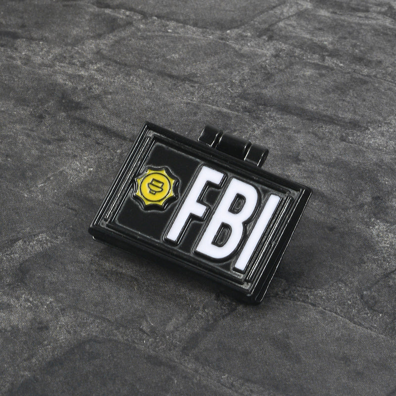 The Simpsons Pin X-Files FBI Fox Mulder ID Card Brooches Enamel pins Lapel pins Badges X-Files Jewelry Brooches Pin
