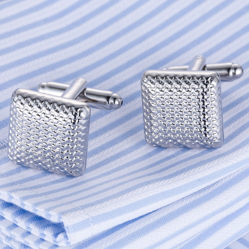 Top Sale Cufflinks Classical Cuff links Silver-Color Cuffs Wedding Lovers' Gift Gemelos Cuffling DropShip Men Jewelry 10170