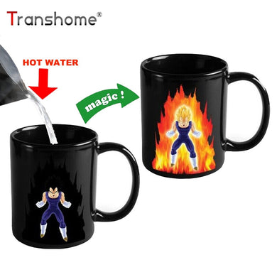 Transhome Creative Color Changing Mug 300ml Dragon Ball Z Vegeta Ceramic Coffee Mug Milk Cup Travel Coffee Cup Tea Cups And Mugs