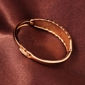 Trendy Gold Color Statement Bangles for Women Fashion CZ Crystal Bangles  Wedding Vintage Cuff Bracelet Jewelry Christmas Gift