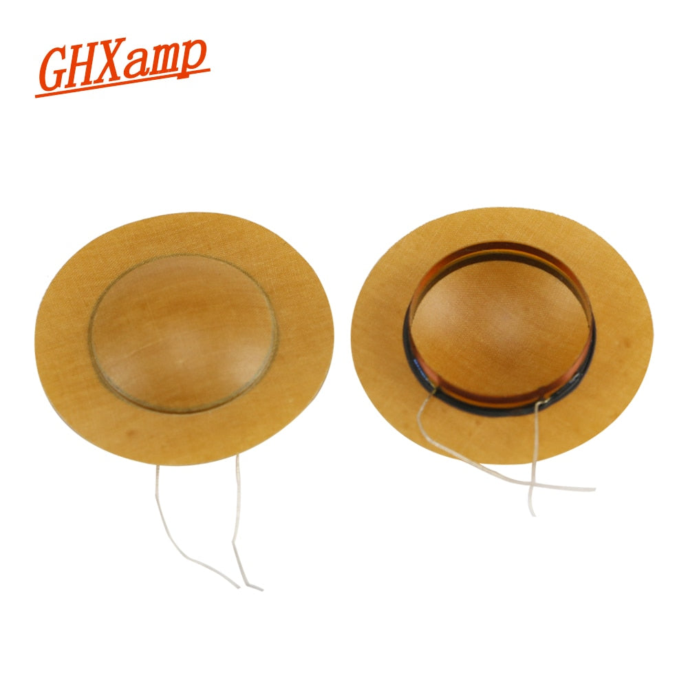 Universal 25.5mm Horn Resin Diaphragm Treble Voice Coil tweeter Film Driver Head stage speaker Repair 6OHM 8OHM 2PCS
