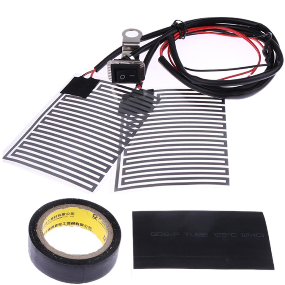 Universal Heated Grips 12V Motorcycle Electric Heating Handle Kit Refit Hand Set Universal Electric Heating Insert Handlebar Pad