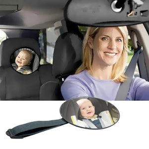 VODOOL Baby Car Safety Mirror Headrest Mount Round Infant Children Kids Car Monitor Car Mirror Facing Rearward View Accessories