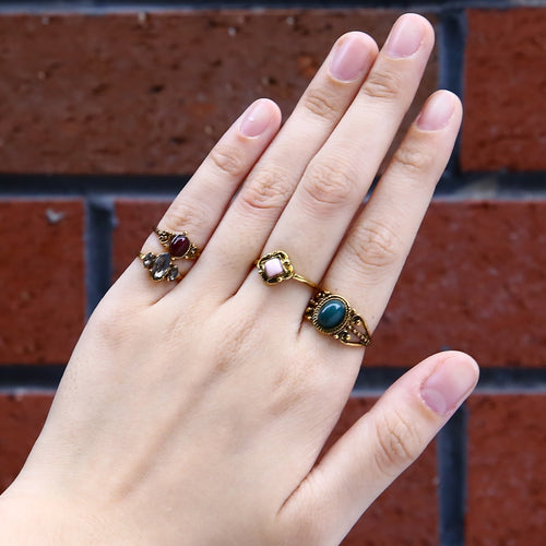 Vintage Boho 4pcs/set Gold Color Ring Mixed Above Knuckle Midi Rings Set For Women Vintage Punk Charm Jewerly anel de prata