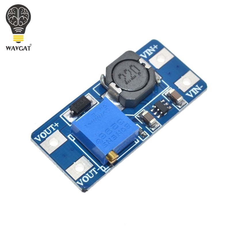 WAVGAT 5PCS MT3608 DC-DC Step Up Converter Booster Power Supply Module Boost Step-up Board MAX output 28V 2A For Arduino