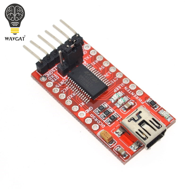 WAVGAT FT232RL FTDI USB 3.3V 5.5V to TTL Serial Adapter Module for Arduino FT232 Mini Port.Buy a good quality Please choose me