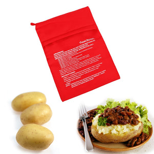 Washable Cooker Bag Microwave Baking Potatoes Bag Quick Fast Baked Potatoes Rice Pocket Easy To Cook Steam Pocket