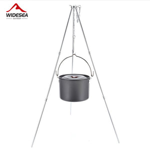 Widesea 4L camping cookware outdoor tableware hanging pot pan 4-6 persons picnic cooking set